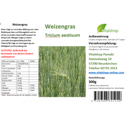 Weizengras gemahlen 300 Gramm