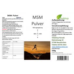 MSM Methylsulfonylmethan 500 g